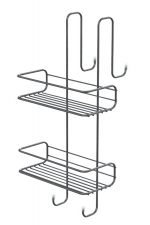 AQUALINE KRÓM LINE polc, 240x490x220mm, króm (2485)