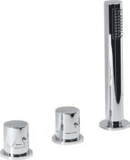 GO Kádperemre szerelhető termosztatikus csaptelep, háromrészes, kádtöltő nélkül, (TH102)