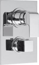 UNA falbaépített zuhany csaptelep, termosztatikus, 3 irányú króm (UN57169)