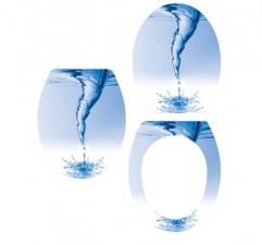 Sanotechnik 29330 WC-ülőke, mintás, lakkozott MDF