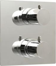 RHAPSODY Falbaépíthető zuhany termosztatikus csaptelep, kétirányú, króm (55052)