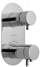 RHAPSODY falbaépíthető termosztátos csaptelep, 2 irányú, króm (5585T)