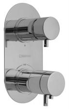 RHAPSODY falbaépíthető termosztátos csaptelep, 3 irányú, króm (5592T)