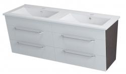 Sapho KALI mosdótartó szekrény 120x50x45 cm fehér/wenge (56120)