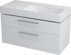 Sapho AMELIE mosdótartó szekrény, 2 fiókos, 100x50x44 cm fehér, jobb
