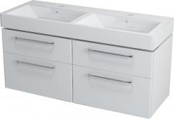 Sapho AMELIE mosdótartó szekrény, 4 fiókkal, 120x50x44 cm