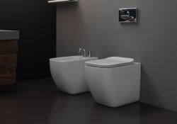 GSGI Brio perem nélküli, szögletes álló WC