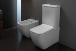 GSGI Brio perem nélküli, szögletes monoblokk WC (WC csésze+tartály+Slim ülőke)