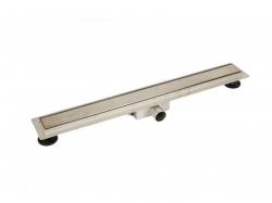 Arezzo 80 cm-es rozsdamentes acél zuhanyfolyóka Steel ráccsal