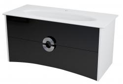 Sapho AVEO mosdótartó szekrény 114x58x49cm, fehér/fekete (AV120)