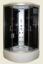 Aqualife Brill 8810A fekete üveghátfalas hidromasszázs kabin