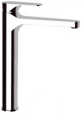CORNELI magasított mosdó csaptelep, hosszított kifolyóval, lefolyó nélkül, króm (CE07)