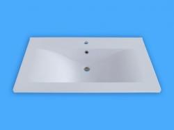 Sanotechnik Öntött márvány mosdó, ráépíthető D9050