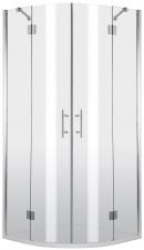 Deante Abelia íves zuhanykabin, két nyíló ajtóval, átlátszó üveggel, króm profillal