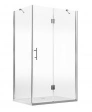 Deante Abelia szögletes zuhanykabin, átlátszó üveggel, króm profillal