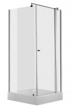 Deante Cubic szimmetrikus zuhanyzó, egy nyíló ajtóval