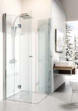 Deante Kerria harmonika ajtós zuhanykabin, átlátszó üveggel, króm porfillal