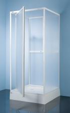 Sanplast KC/DJ-c hátfalas, nyílóajtós zuhanykabin több méretben