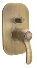 KIRKÉ falbaépíthető csaptelep, 2 irányú, bronz (KI42B)