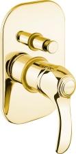 KIRKÉ falbaépíthető csaptelep, 2 irányú, arany (KI42Z)