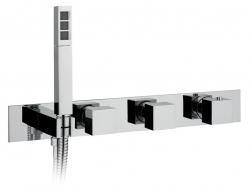 Falsík alatti termosztatikus csaptelep kézi zuhany tartóval, króm (MB453)