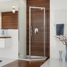 PKDJA/TX5b ötszögletű nyílóajtós zuhanykabin 1db kifelé nyíló ajtóval