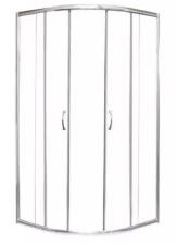 Íves sarokkabin 2 tolóajtóval, 90-es átlátszó üveggel