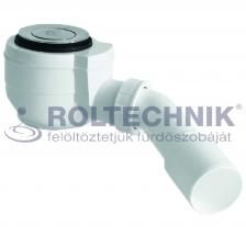 Roltechnik zuhanytálca szifon click-clack. 50-es inox, magasság 83mm