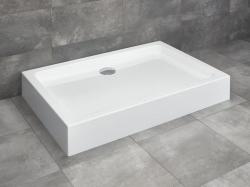 Radaway Laros D akril szögletes aszimmetrikus zuhanytálca ST 90 szifonnal