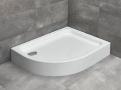 Radaway Laros E akril aszimmetrikus zuhanytálca lábbal