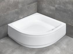 Radaway Samos A íves akril félmagas zuhanytálca lábbal és ST 50 szifonnal