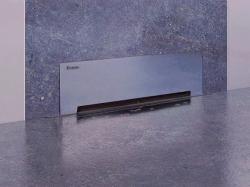 Styron beltéri falba építhető zuhanyfolyóka, matt előlappal_STY-F1KM