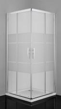 Sanotechnik Pro-Line csíkos sarok zuhanykabin 5mm-es üveggel