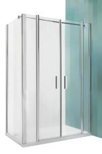 Roltechnik TDN+UB zuhanykabin egy ajtóval egy fix fallal