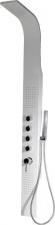 MESA zuhanypanel lakkozott fehér acél, egykaros csaptelep,mikrofúvók. (WN852)
