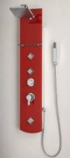 Sanotechnik ZANZIBAR zuhanypanel, piros üveg