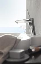 Grohe Eurodisc Joy egykaros mosdócsap húzórudas leeresztővel Króm