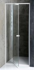 Amico nyíló zuhanyajtó fehér profillal, átlátszó üveggel