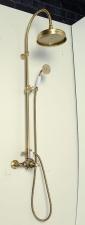 Antea zuhanyoszlop termosztatikus csapteleppel bronz