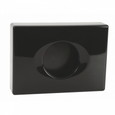 Bemeta Dark higiéniai tasak adagoló műanyag, fekete 101403030