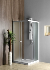AQUALINE ALAIN szögletes zuhanykabin, 70 cm, 80 cm, 90 cm, BRICK üveg