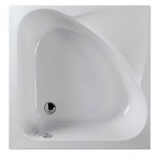 Polysan Carmen szögletes mély akril zuhanytálca lábbal