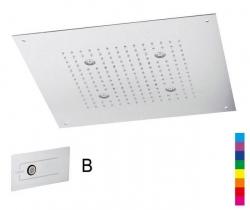 CHROMOTHERAPY fejzuhany 32x32cm, esőztető, vezérlővel, Inox (A579LH7) (CH3232B)