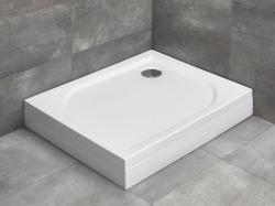 Radaway Delos D aszimmetrikus akril zuhanytálca lábbal, előlappal