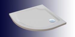 Dita öntött márvány íves zuhanytálca