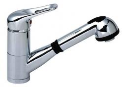 Sanotechnik Sanorekord mosogató csaptelep kihúzható zuhanyfejjel 50005E