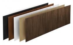 M-Acryl trópusi fa előlap egyenes kádakhoz