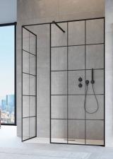 Radaway Modo New Black III Factory ( 3 részből álló ) walk-in zuhanyfal