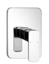AQUALINE FACTOR falbaépíthető zuhanycsaptelep, 1 irányú, króm (FC541)