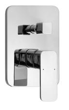 AQUALINE FACTOR falbaépíthető zuhanycsaptelep, 2 irányú, króm (FC642)